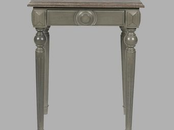 BLANC D'IVOIRE - mathis gris fonc� - Table De Chevet