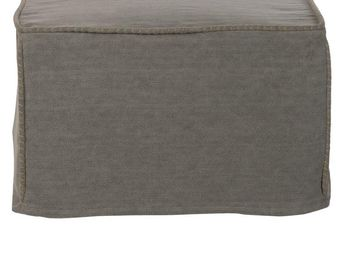 BLANC D'IVOIRE - balthus gris - Pouf D'extérieur