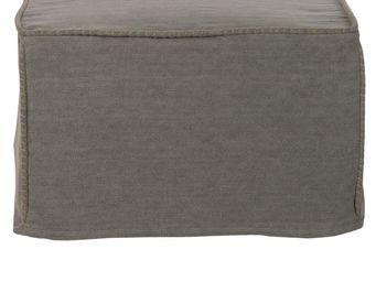 BLANC D'IVOIRE - balthus gris - Pouf D'ext�rieur