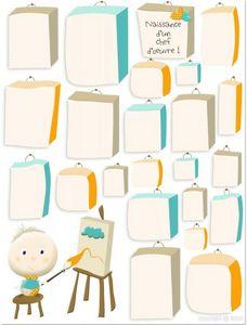 BABY SPHERE - affiche naissance tibulle - Affiche