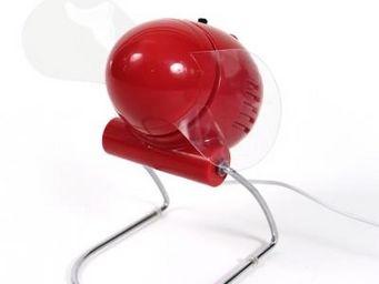 Cm - ventilateur � h�lices rouge - Ventilateur