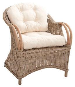 AUBRY GASPARD - fauteuil en poelet gris - Fauteuil De Terrasse
