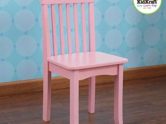 KidKraft - chaise rose en bois pour enfant 34x32x68cm - Chaise Enfant
