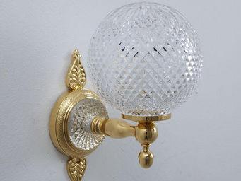 Cristal Et Bronze - palmette cristal - Applique De Salle De Bains