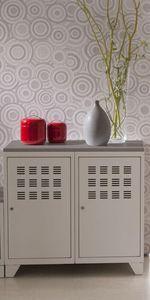 jardindeco - armoire de rangement métal 2 portes blanc - Armoire De Bureau