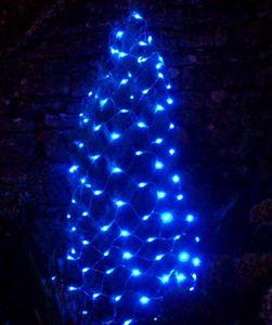 FEERIE SOLAIRE - guirlande solaire filet 96 leds bleues 150x90cm - Guirlande Lumineuse