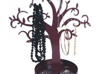 Cm - porte-bijoux m�tal arbre - couleur - violet - Porte Bijoux