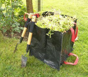 Idees B Creation - sac à végétaux pro 60 litres en double toile polyp - Sac À Herbe