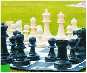 Traditional Garden Games - jeu d'échecs de jardin géant 89x89cm - Jeu De Société