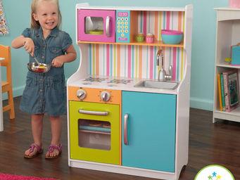 KidKraft - cuisine pour enfants color en bois 60x30x88cm - Jouets De Poup�e