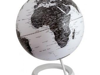INVOTIS - globe terrestre noir et blanc - Globe Terrestre