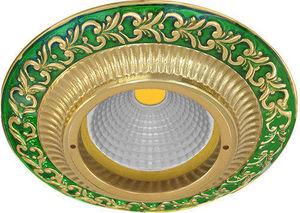 FEDE - smalto italiano san sebastian round collection - Spot De Plafond Encastr�