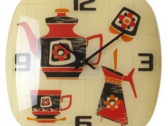 La Chaise Longue - horloge kitchen picto - Pendule Murale