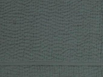 BLANC D'IVOIRE - taie cesar gris foncé - Jet� De Lit