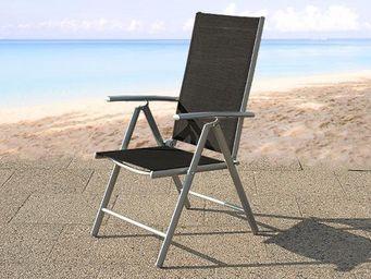 BELIANI - meubles en aluminium - Fauteuil De Jardin Pliant
