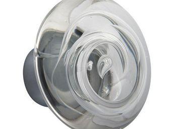 Les Verreries De Brehat - tubes de bulles disque incolore - Bouton De Porte