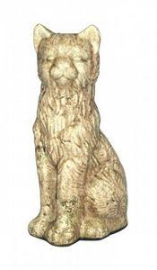Demeure et Jardin - grand chat en terre cuite - Sculpture Animalière