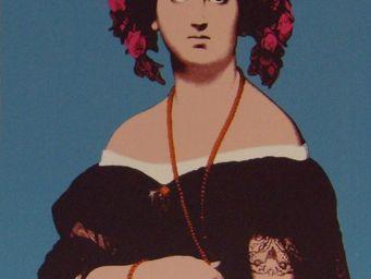 PROVENCE ET FILS - portrait hortense pop art mouvence - Portrait