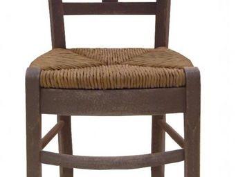 PROVENCE ET FILS - chaise cantina/ assise paill�e h. assise 46cm pour - Chaise Haute De Bar