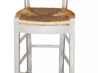 PROVENCE ET FILS - chaise haute cantina/ assise paill�e - Chaise Haute De Bar