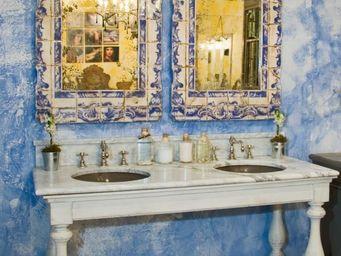 PROVENCE ET FILS - ensemble bain balustres - 165 x 65 x h85 - dessus - Meuble Double Vasque