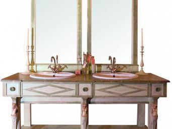 PROVENCE ET FILS - ensemble de salle de bain thermes avec trumeau / v - Meuble Double Vasque