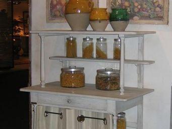 PROVENCE ET FILS - etagere tante marie - 1 m�tre - sans rideaux - Meuble De Cuisine