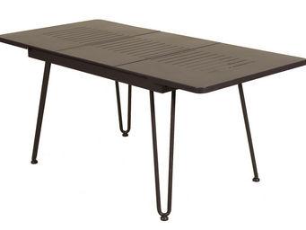Les Jardins - table extensible pieds pliants filaciel en acier z - Table De Jardin � Rallonges