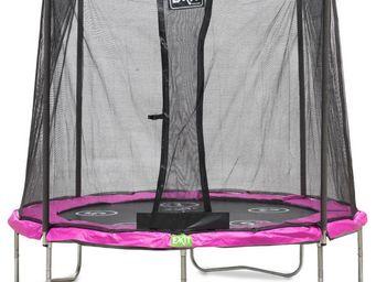 EXIT TOYS - trampoline réversible twist rose - Trampoline