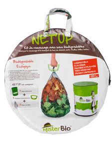 MISTER BIO - kit de ramassage net'up avec sacs bio 120l - Sac À Herbe