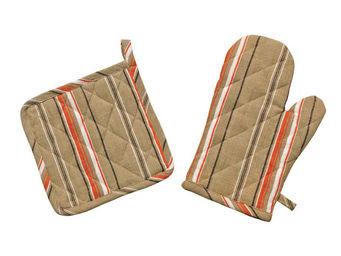 Interior's - ensemble gant et manique marius - Gant De Four