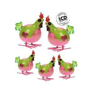 ICD COLLECTIONS - coq valerie formé vert - Animaux De La Ferme (jouets)