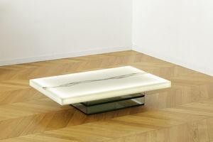 ANTOINE DE MESTIER - or lumineux - Table Basse Rectangulaire