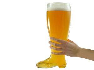 WHITE LABEL - chope verre bière design botte xxl 800 ml shooter  - Chope