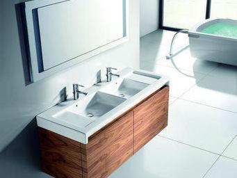 UsiRama.com - meuble salle de bain double vasque cèdre 1.2m - Meuble Double Vasque