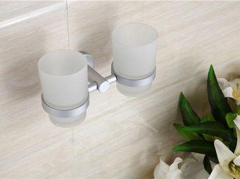 UsiRama.com - coffret porte-verre mural et 2 gobelet - Porte Brosses À Dents