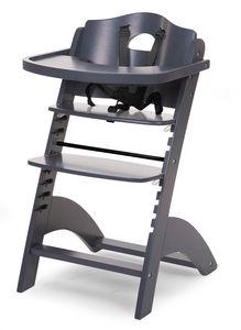 WHITE LABEL - chaise haute évolutive pour bébé coloris anthracit - Chaise Haute Enfant