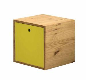 WHITE LABEL - cube de rangement en pin massif avec couvercle an - Caisse De Rangement