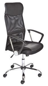 WHITE LABEL - chaise de bureau moderne coloris noir - Chaise De Bureau