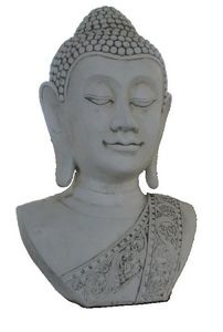 DECO GRANIT - buste de bouddha en pierre reconstituée - Statuette