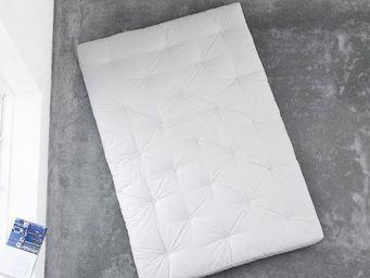 WHITE LABEL - matelas futon coco 200*200*16cm - Futon