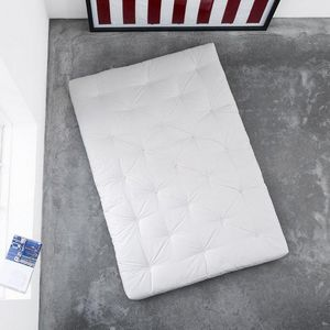 WHITE LABEL - matelas futon traditionnel écru 90*200cm - Futon