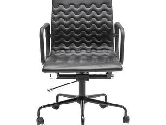 Kare Design - chaise de bureau pivotante wave noire - Chaise De Bureau