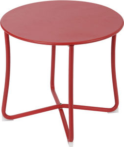 Amadeus - table basse epoxy camille rouge - Table Basse Ronde