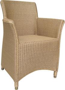 Aubry-Gaspard - fauteuil sapporo natruel en loom et rotin naturel - Fauteuil De Terrasse