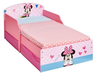 WHITE LABEL - lit + matelas morpho 140*70 cm disney - minnie n°1 - Lit Enfant