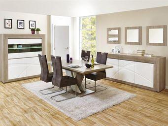 WHITE LABEL - salle à manger complète n°1 - swim - l 225 x l 100 - Salle À Manger