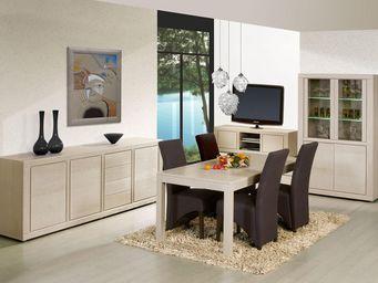 WHITE LABEL - salle à manger complète - irne - l 190 x l 90 x h - Salle À Manger
