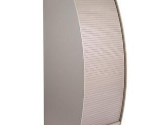WHITE LABEL - colonne informatique à rideau taupe taille l - inf - Armoire De Bureau