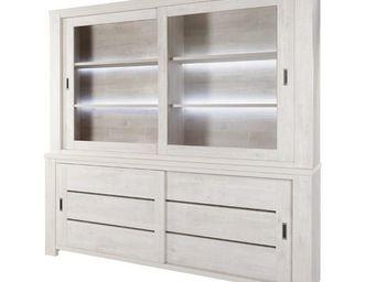 WHITE LABEL - vaisselier 4 portes - oji - l 230 x l 40 x h 128 - - Vaisselier